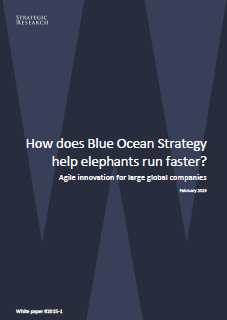 Cover white paper How can blue ocean strategy help elephants run faster?