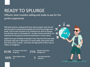 Illustration of Ready to splurge, one segment of short break customer journey