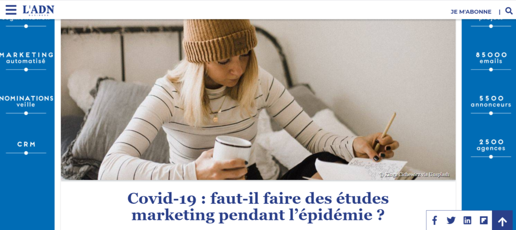 Illustration Faut-il faire des études marketing pendant l'épidémie